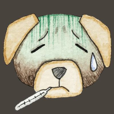 Hund_krank_transparenter Hintergrund_Aram und Abra