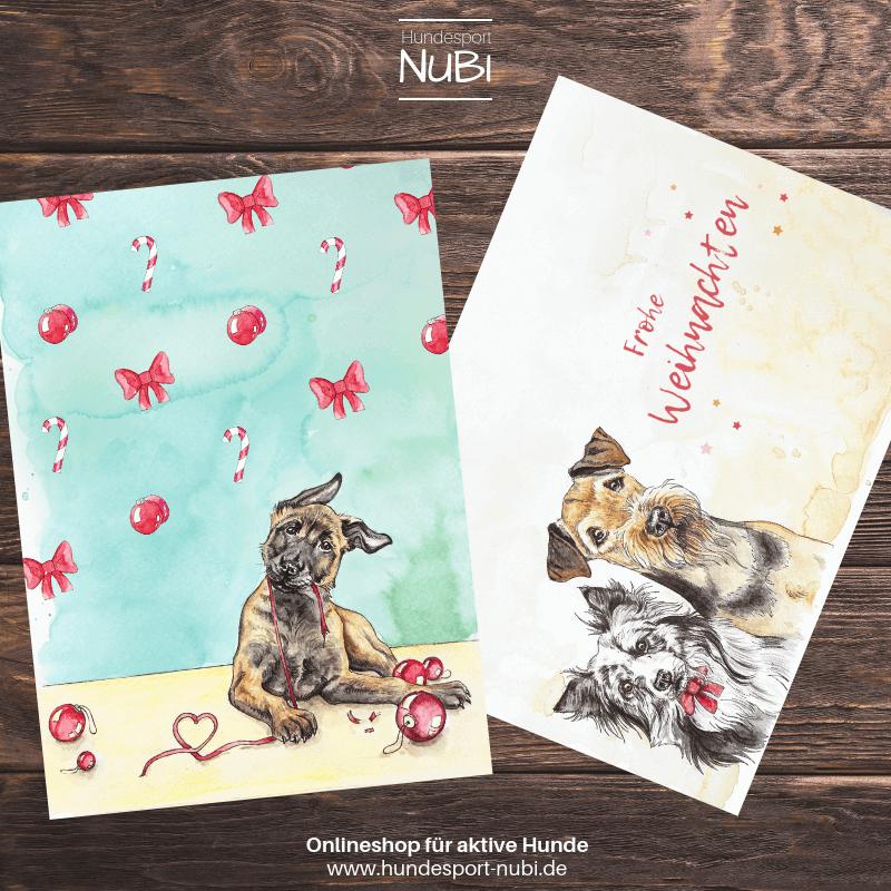 Weihnachtskarten - Onlineshop für aktive Hunde www.hundesport-nubi.de